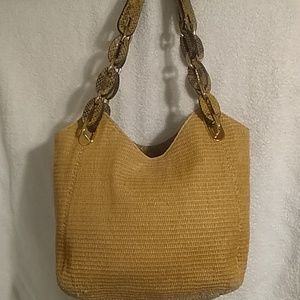 Michael Kors Edition straw bag purse